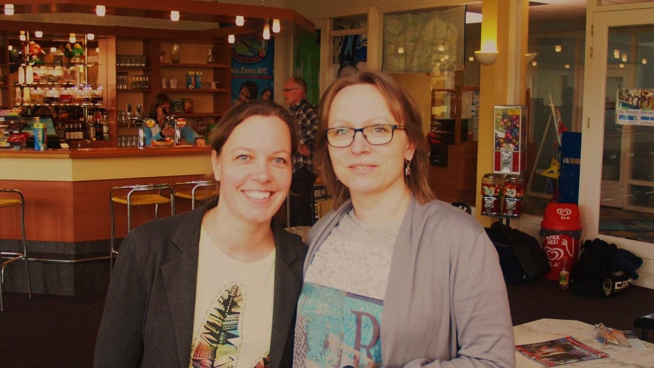 Kampioenen damesdubbel: Eline van Onzenoord & Dorota Klees