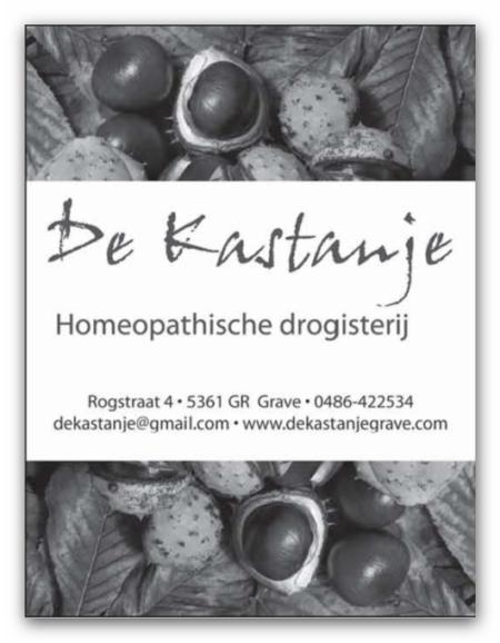 De Kastanje Homeopatische Drogisterij Grave