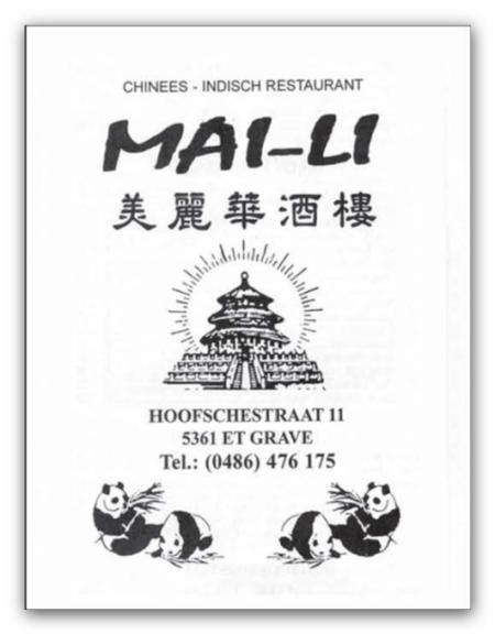 Chinees Indisch Restaurant Mai-Li